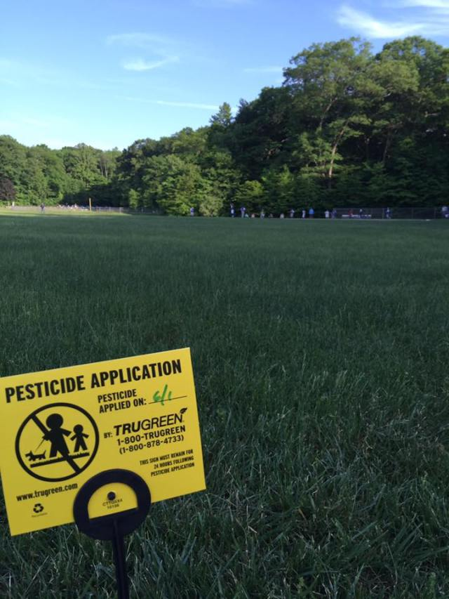 pesticide application sign athletic